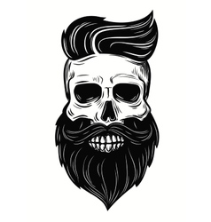 Skull on white vector