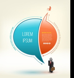 Speech idea design with business man 3D icon vector image vector image