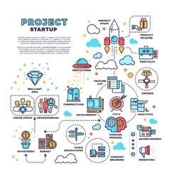 Startup business project product management vector image