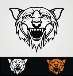 Tribal tiger head vector