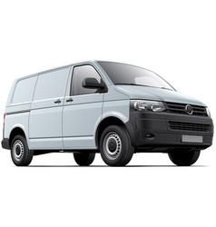 white cargo van vector image vector image