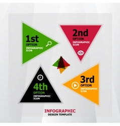 Infographic web banner design template vector image