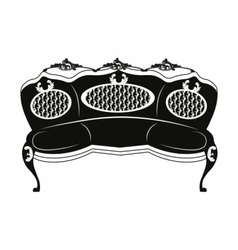 Baroque style sofa round shape vector