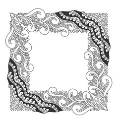 Square black and white frame vector