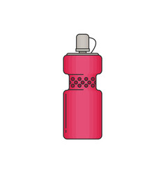bottle water modern flat icon vector image