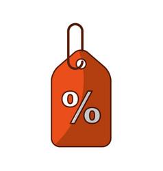 Tag with percent symbol vector
