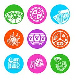 Casino metro icons vector