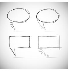 Talk bubbles sketch drawing vector image