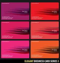 elegant business cards vector image