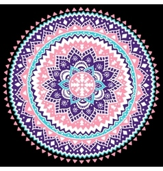 Beautiful aztec tribal mandala ornament vector