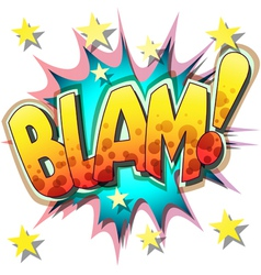 blam vector image