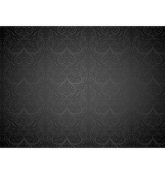 Seamless black floral background vector