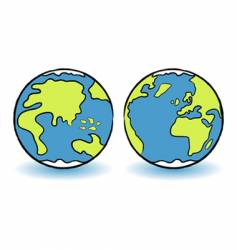 childish globes vector image