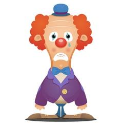 sad clown vector image