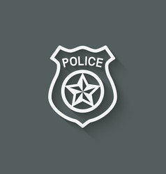 Police badge symbol vector
