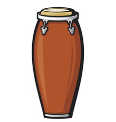 African conga drum vector image vector image