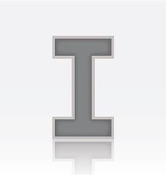Alphabet I vector image