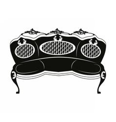 Baroque style sofa round shape vector