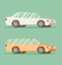 Car in flat style vehicle icon vector