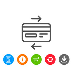 Credit card line icon bank payment method vector