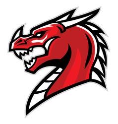 dragon head mascot vector image vector image
