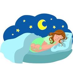 Dreams of pregnancy vector