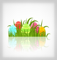 Easter natural background with traditional vector image vector image