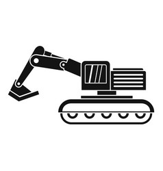 Excavator icon simple vector