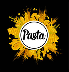 Exquisite delicious pasta of best quality vector