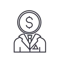 financial consultant line icon sign symbol vector image