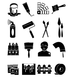 House paint icons set vector