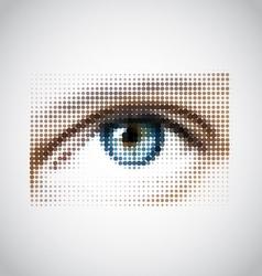 Human eye halftone pattern vector
