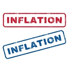 Inflation rubber stamps vector