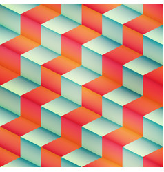 Isometric geometric seamless pattern vector