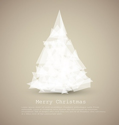 modern card with abstract white christmas tree vector image