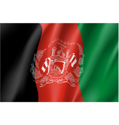 National flag of afghanistan republic vector