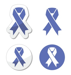 Periwinkle ribbons set - eating disorder symbol vector image vector image