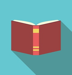 Red book flat style vector