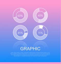 round graphics template design with info text vector image