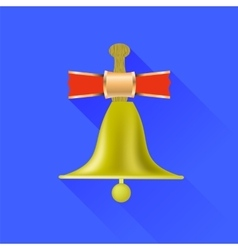 School bell icon vector
