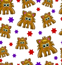 Seamless pattern with cute monster-2 vector image vector image