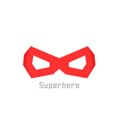 simple red superhero mask icon vector image