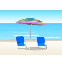 Summer At The Beach vector image
