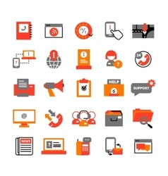 Support Center Icons Set vector image vector image