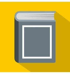 Thick book icon flat style vector