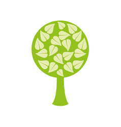 tree organic food emblem image vector image