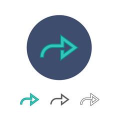 universal arrow icon vector image vector image