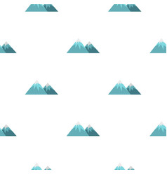 Winter mountains pattern seamless vector