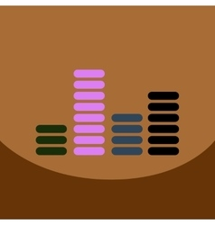 Flat icon design collection sound and audio vector