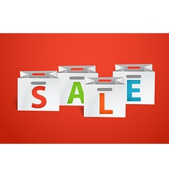 Sale promo banner template vector image